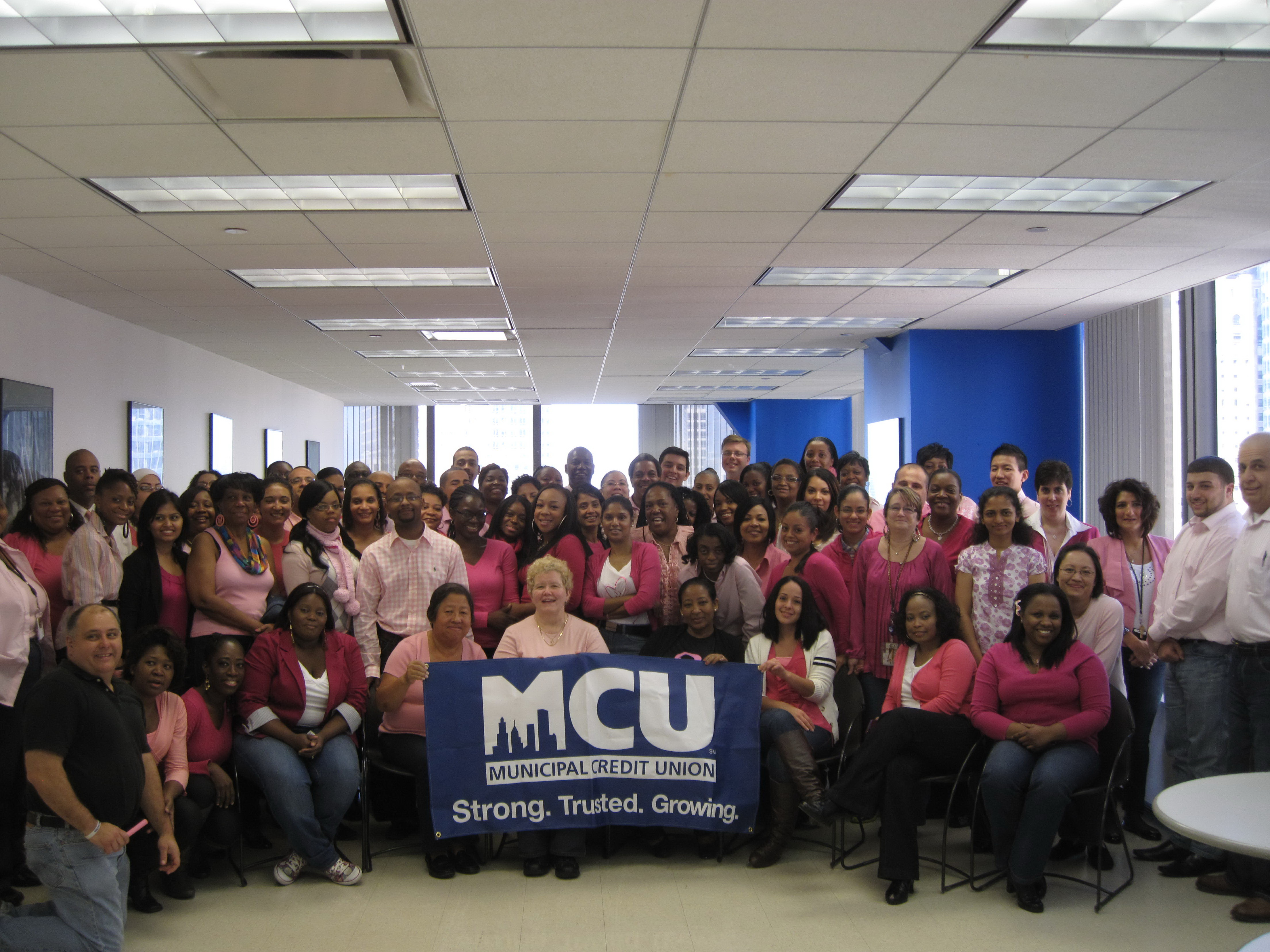 Municipal Credit Union >> Municipal Credit Union Raises 10 000 For Breast Cancer In