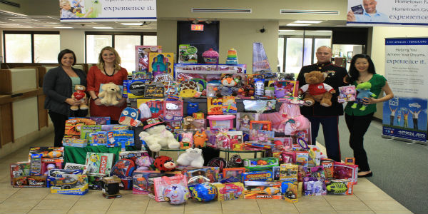 Marine Toys 4 Tots Foundation : Pen air federal credit union donates toys to benefit u s