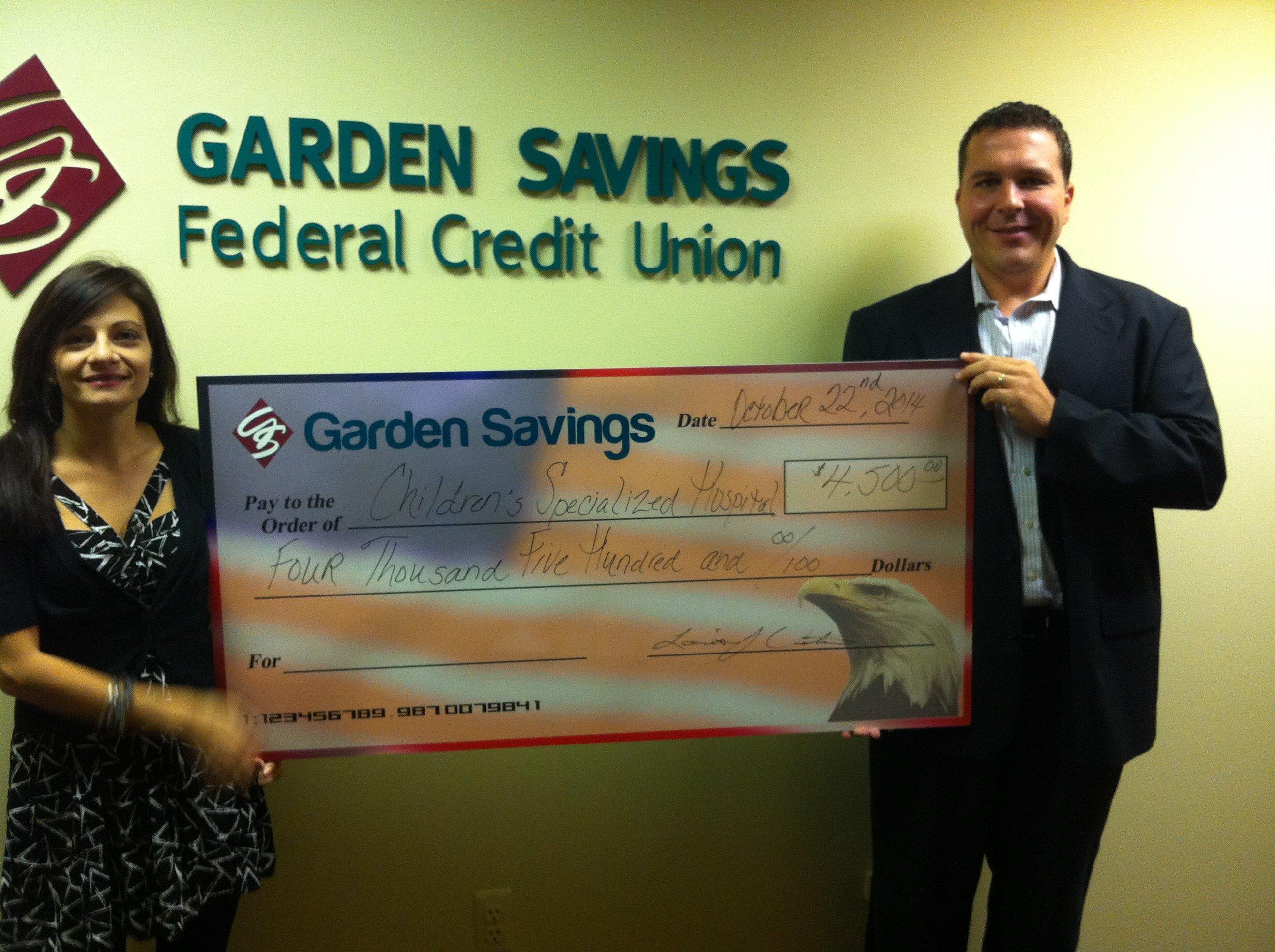 Garden Savings Federal Credit Union Raises 4 500 For