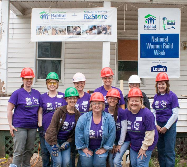 Greylock women participate in Central Berkshire Habitat for