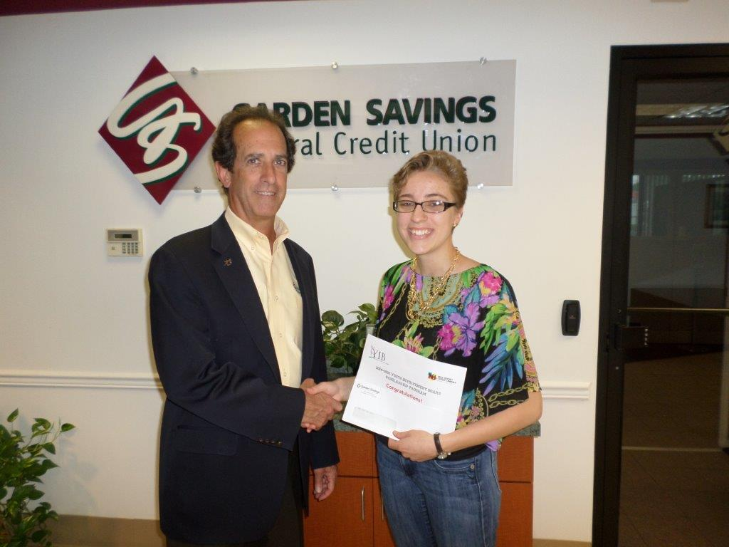 Garden Savings Federal Credit Union Awards Two Book Scholarships To Members