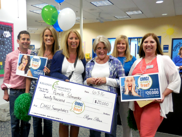omg sweepstakes kellogg community credit union announces omg sweepstakes 9747