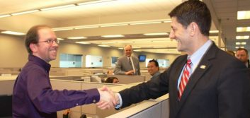 House Speaker Paul Ryan visits Landmark Credit Union in Wisconsin
