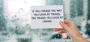 Be change, speak change; see change