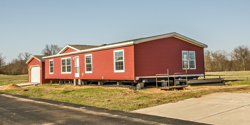 bigstock-New-Manufactured-Home-With-Red-240721582 Mobile Homes Red on red houses, red siding, red decks,