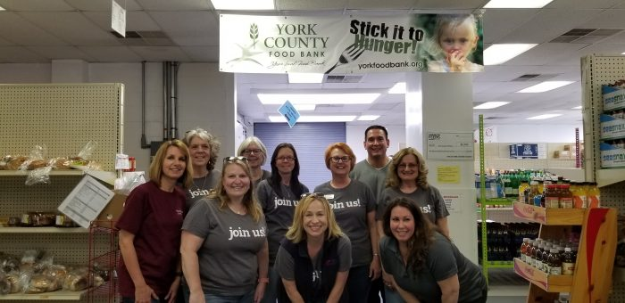 York Chapter Of Credit Unions Members Volunteer At Food Bank