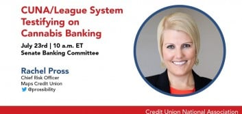 CUNA/League system witness to testify before Senate Banking Committee July 23