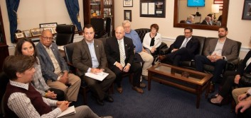 CU difference, cybersecurity part of Hill visits from Conn., Maine, Mich.
