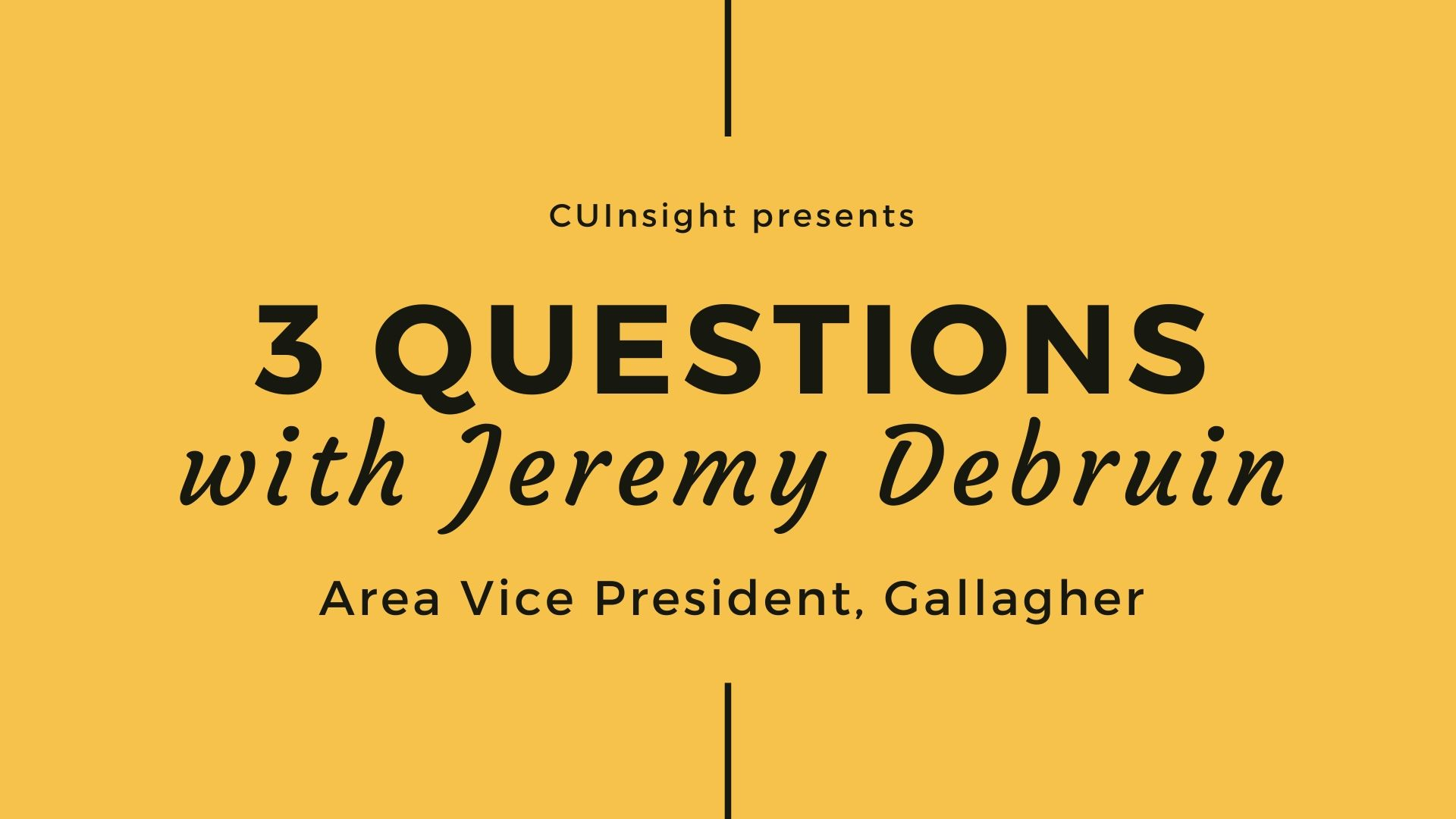 3 questions with Gallagher's Jeremy Debruin