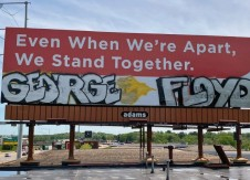 Billboard message transcends COVID-19 to racism