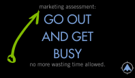 Marketing assessment: Go out and get busy