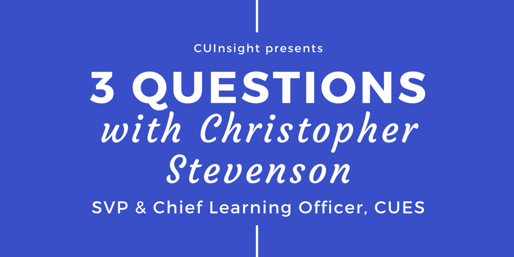 3 questions with CUES' Christopher Stevenson