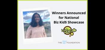 Winners announced for national Biz Kid$ Showcase