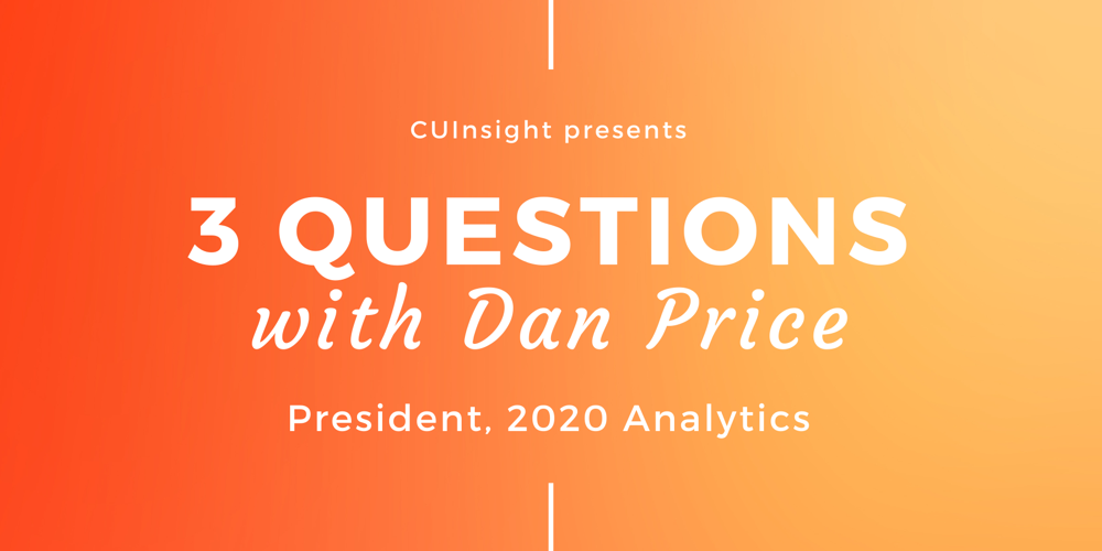 3 Questions with 2020 Analytics' Dan Price